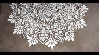 Diwali Special Big Alpona / Hall Alpona/ Kolam Design / Deepika Das