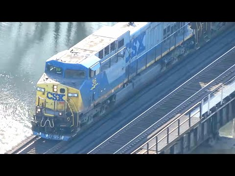 Thumbnail: CSX Train In Harper's Ferry, West Virginia