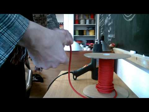 Tekstiilkaabel - Textile Cable - How To Cut And Clean The Ends