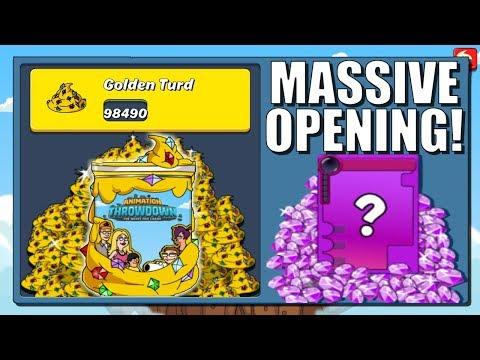 100K Golden Turd Opening! | Animation Throwdown