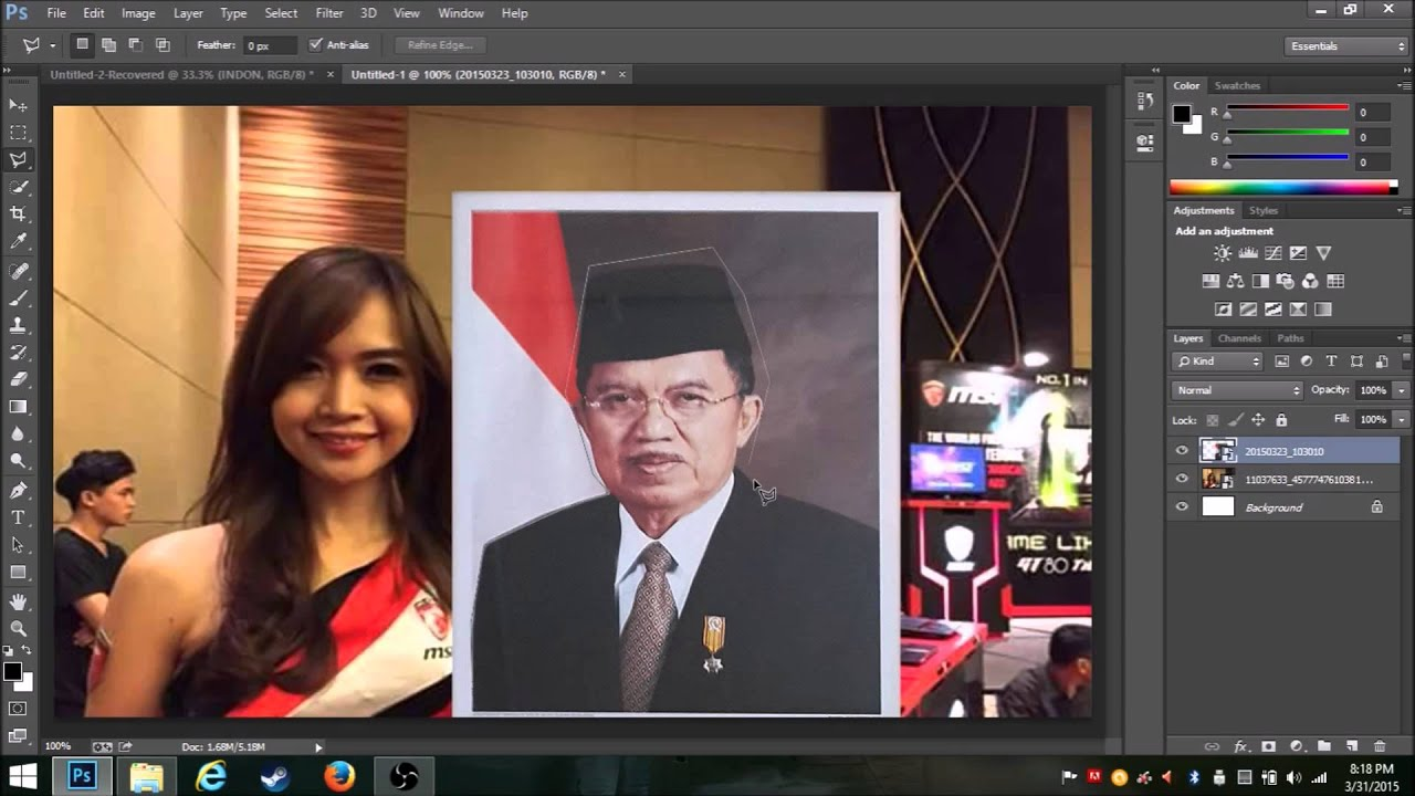 Belajar Photoshop | Tutorial, Manipulasi dan Edit Foto