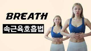 [호흡1편] 홈트입문:속근육, 호흡법알기/ 숨만쉬는데 코어근육강화는물론, 뱃살쏘옥~ 갈비뼈제거 수술효과? 요실금, 질방귀 해결까지?