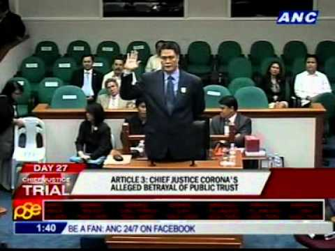 Article 3: CJ Corona's alleged betrayal of public trust