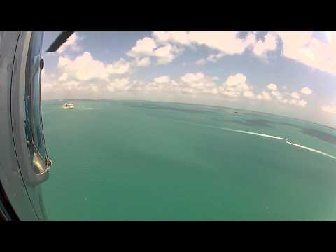 Belize Flight Over Beautiful Blue Waters