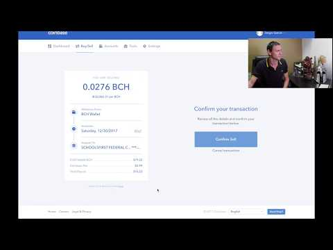 How to SELL Bitcoin Cash Coinbase BCH