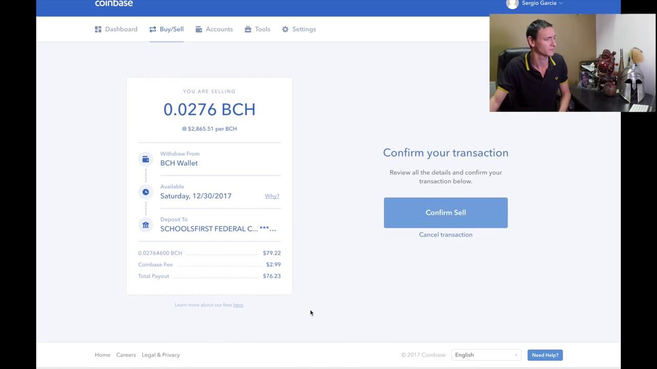 buy bitcoin cash with coinbase