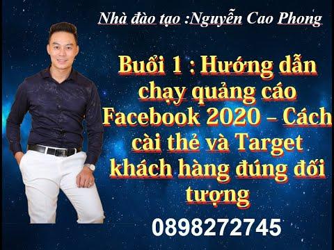 Hướng dẫn chạy quảng cáo Facebook 2020   Cách cài thẻ và target khách hàng