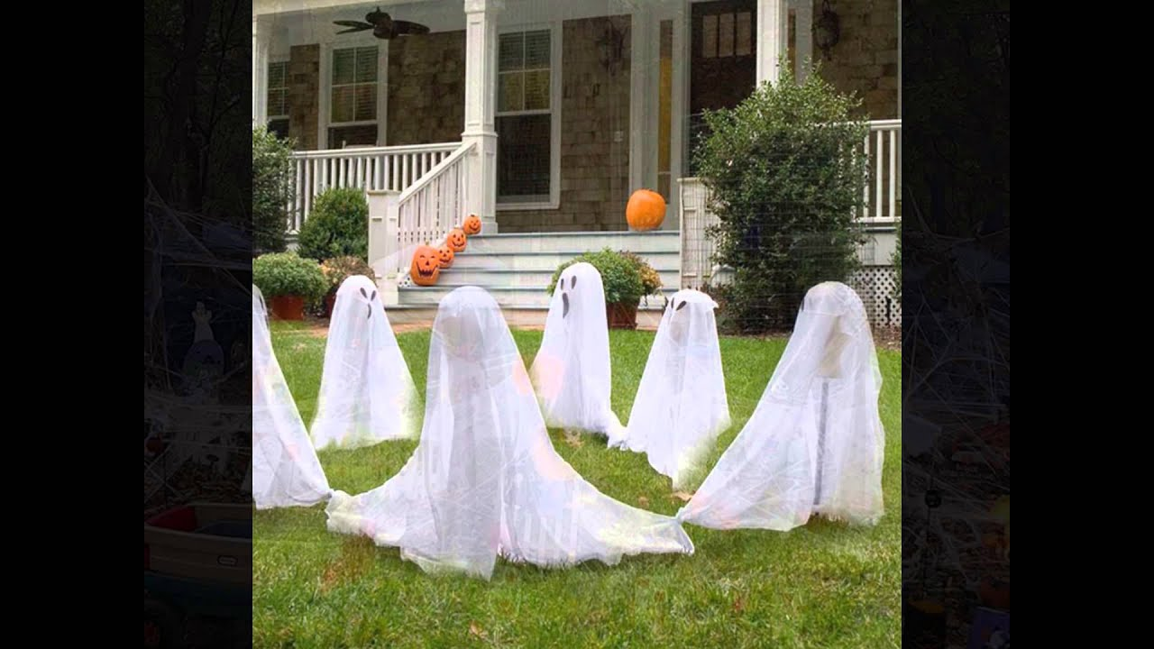 Wonderful Cheap Halloween Decorations Part - 12: Easy And Cheap Halloween Decorations Of DIY Homemade Ideas For Outdoor Party