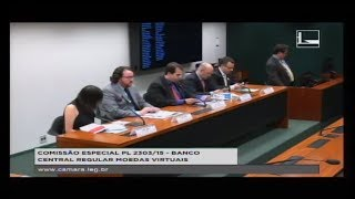 PL 2303/15 - BANCO CENTRAL REGULAR MOEDAS VIRTUAIS - Reunião Deliberativa - 20/12/2017 - 15:06