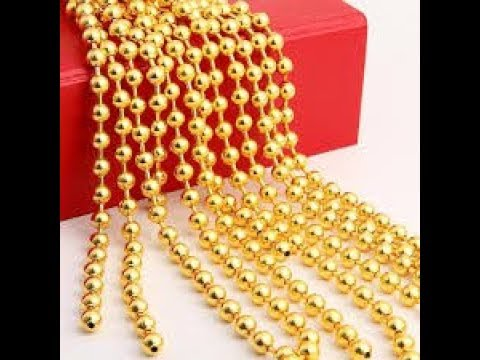 DIY/ How to Make Pearls Gold Ball Chain Hangings/ Earrings at Home..
