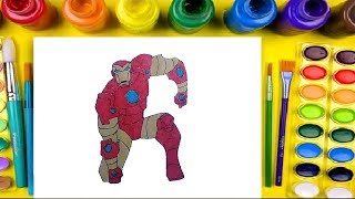 how to draw iron man for kids coloring pages art colors with colored