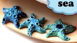 Полимерная глина - Морская ЗВЕЗДА / Starfish charm from polymer clay