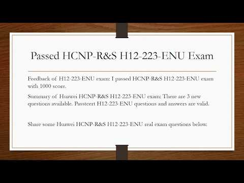 Passed HCNP R&S H12-223-ENU Exam, Share H12-223-ENU Real Questions