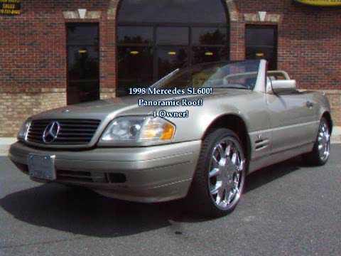1998 Mercedes SL600 V 12 For Sale  YouTube