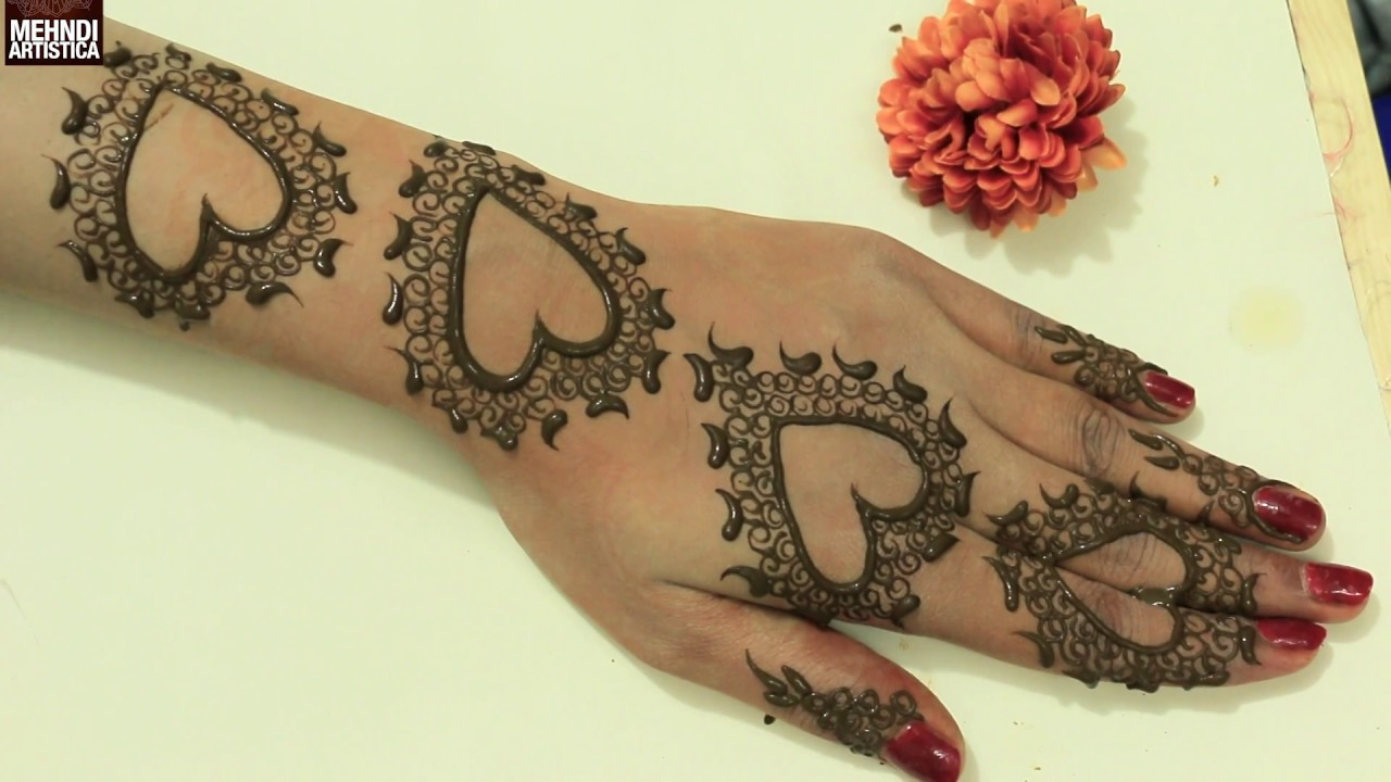 Cute Henna Designs: Cute Romantic Valentines Day Special Henna Mehndi Designs