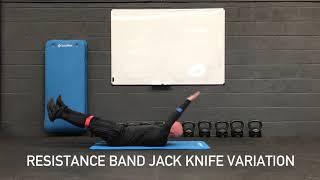 RES BAND JACK KNIFE VARIATION 'COMPLETE WITH DESCRIPTION'