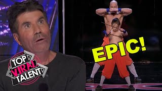 EPIC MARTIAL ARTS FATHER AND SON AUDITION ON AMERICA'S GOT TALENT!