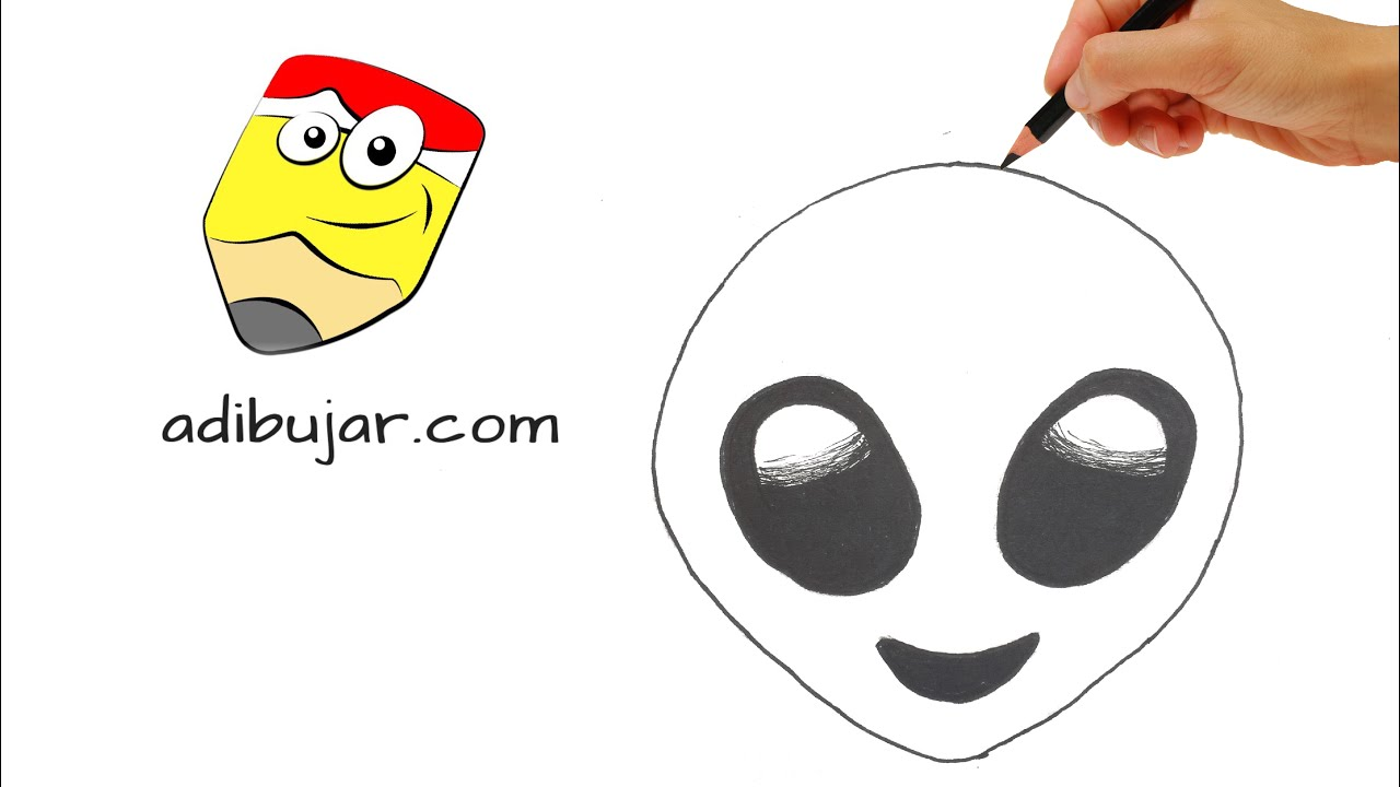 Whatsapp Emojis How To Draw Alien Emoji Step By Step Easy Drawing For Kids