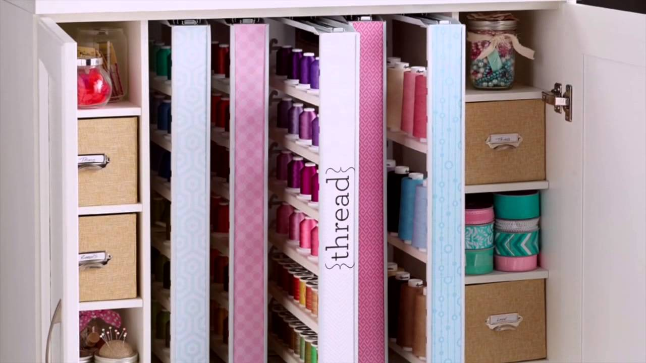 INSPIRA STUDIO™ by ClosetMaid® Thread Cabinet - YouTube