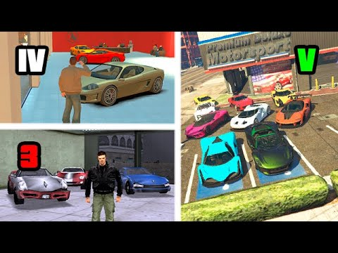 CAR SHOWROOMS In GTA GAMES (Evolution)