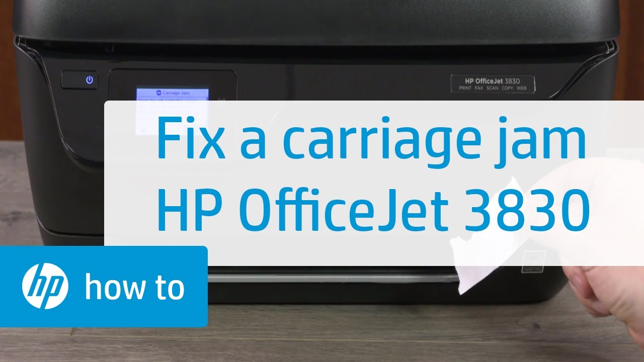 How to Fix a Carriage Jam in the HP OfficeJet 3830 Printer | HP OfficeJet |  HP