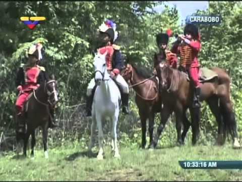 Representación de la Batalla de Carabobo, 24 de Junio de 2014