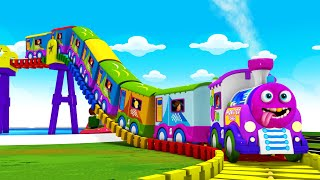 Train Cartoon Videos for Kids - Toy Factory Train Cartoon Cartoon - Trains