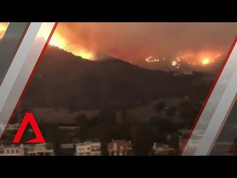 California wildfires spread to Malibu properties