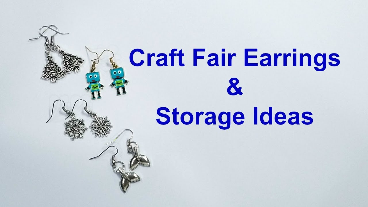 Craft Fair Earrings and Jewelry Making Supply Storage  sc 1 st  YouTube & Craft Fair Earrings and Jewelry Making Supply Storage - YouTube