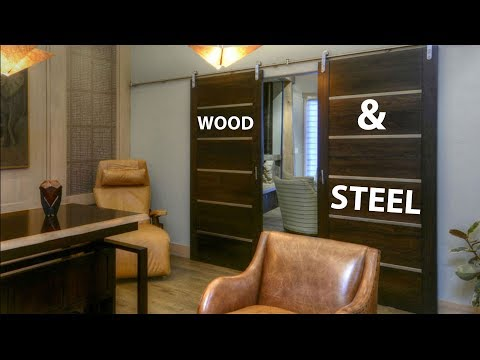 Building a modern contemporary barn door with stainless steel accents (Voice Over Version)