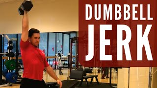 DUMBBELL JERK EXERCISE DEMONSTRATION