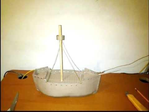 Barco Carabela Maqueta Sencilla - YouTube