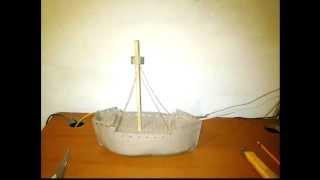 Barco Carabela Maqueta Sencilla