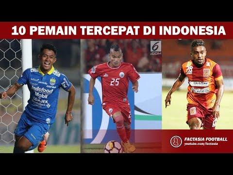10 Pemain Sepak Bola Tercepat Di Indonesia