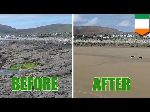 Achill Island beach: Dooagh beach returns, 33 years after storm washed it away - TomoNews