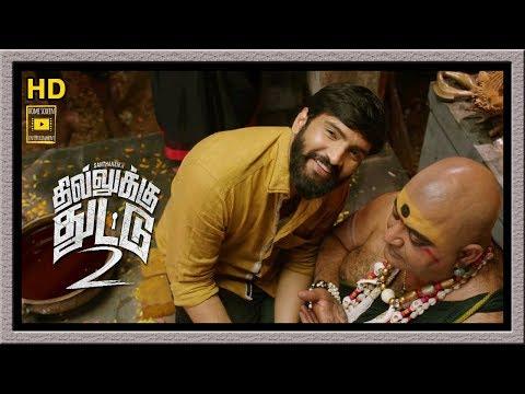 Dhilluku Dhuddu 2 Full Movie | Santhanam Meets His Lover Father | Mottai Rajendran Comedy