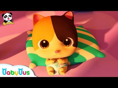 Don't Cry, Baby Kitten | Cute Pet Kitten Care | Christmas Song | BabyBus Cartoon