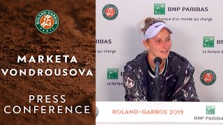 Marketa Vondrousova - Press Conference after Women's Final | Roland-Garros 2019
