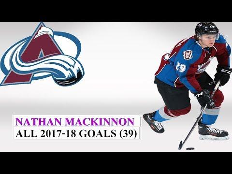 Nathan MacKinnon (#29) All 39 Goals of the 2017-18 NHL Season