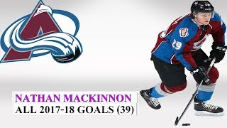 Nathan MacKinnon (#29) All 39 Goals of the 2017-18 NHL Season
