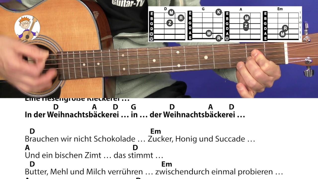 Rolf Zuckowski Weihnachtslieder Texte.In Der Weihnachtsbackerei Rolf Zuckowski Akkorde Text Fur Gitarre Zum Mitspielen