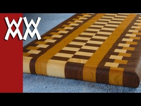 How to make a wood end-grain cutting board