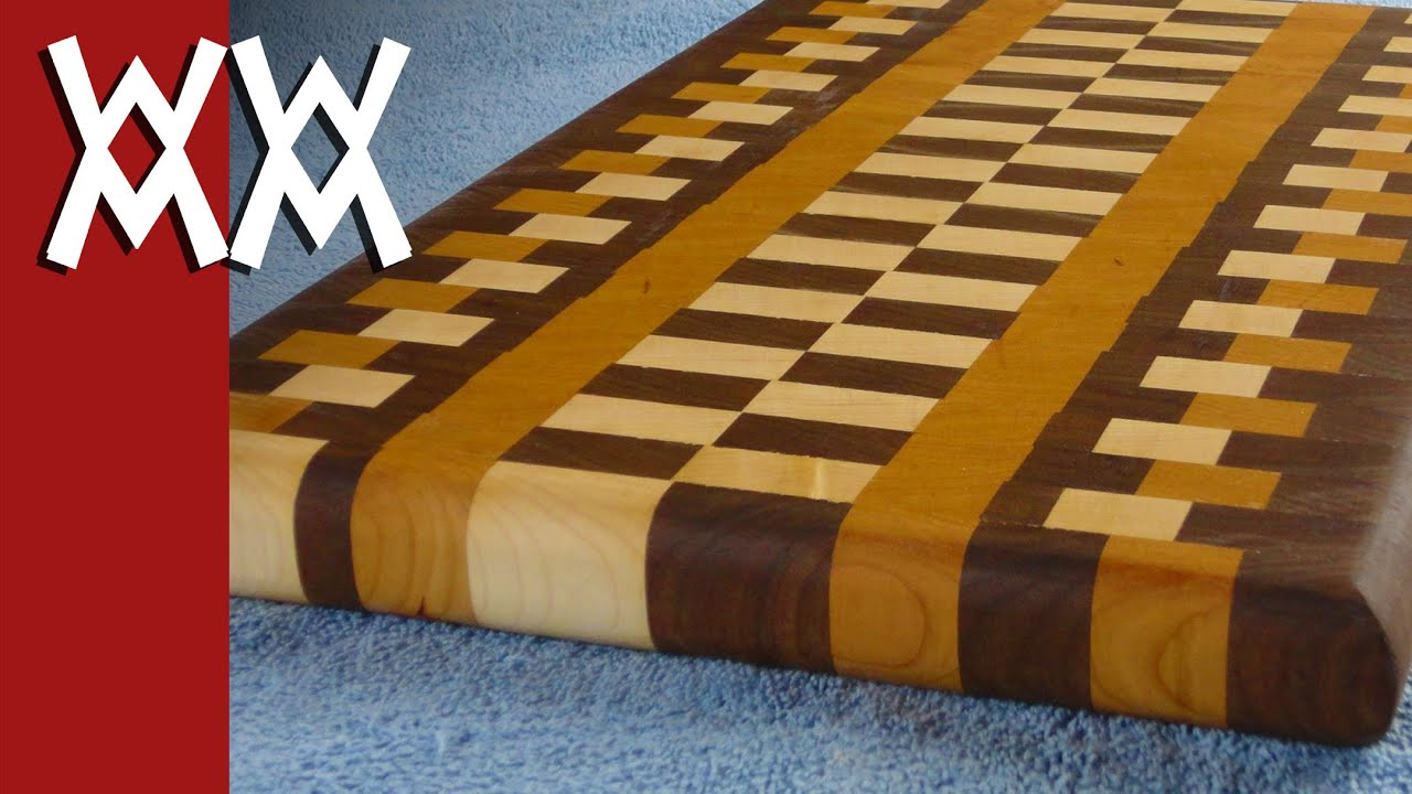 How To Make A Wood End Grain Cutting Board   YouTube