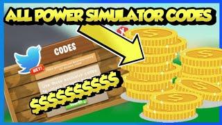 NEWEST POWER SIMULATOR CODES|| STORM UPDATE (ROBLOX)