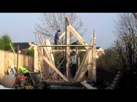 How To Build A Gable Roof Shed Youtube