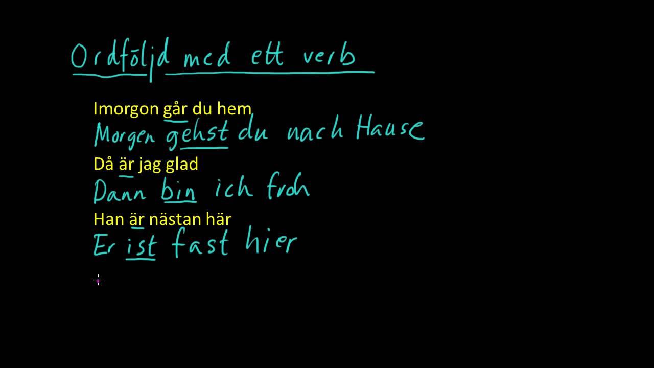 Tyska 3: Enkel ordföljd med ett och två verb i tyska