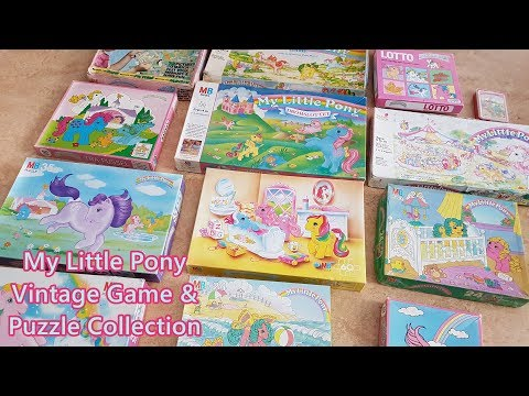 Vintage My Little Pony Board Game and Puzzle Collection Vintage 80s 90s Toys