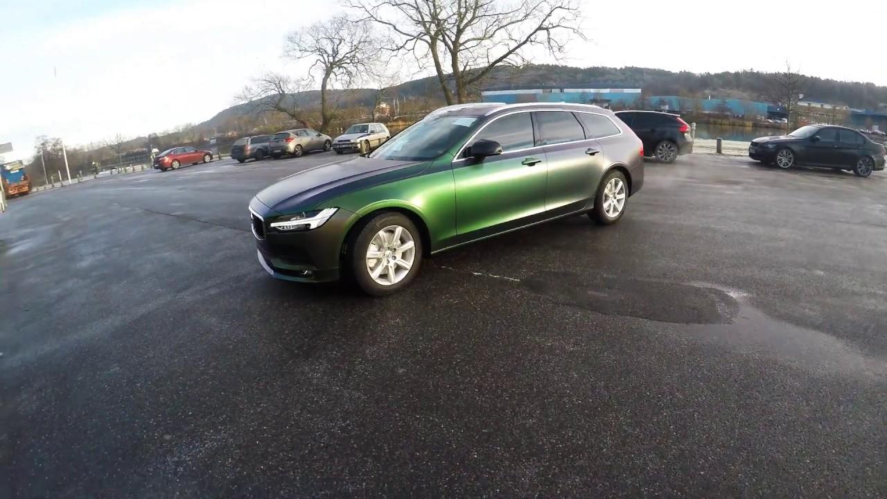 WTP Dekor Professional Vehicle Wrap Installer - Volvo V90 - Urban Jungle Silver/Green - YouTube