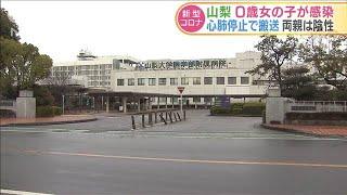 山梨 心肺停止で搬送の0歳女の子 新型コロナ感染(20/04/02)