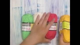 Мастер-класс спиральный бабушкин квадрат крючком из YarnArt Creative!